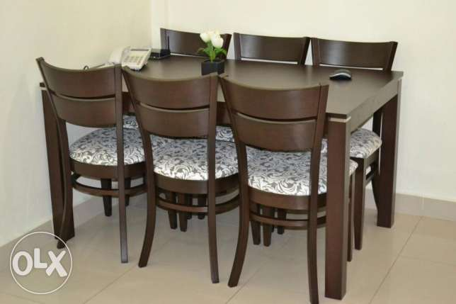 Glass Top-Dining Table with 6 chairs for sale