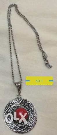 Silver Oxidized Chain with Pendants for Sale!