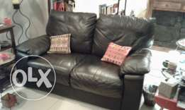 3 piece couch set. Black durable leatherette.