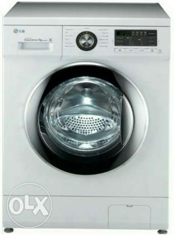 LG washing machine. 7KG. Front load fully auto. Model. F10B8QDT25 السالمية -  1