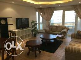 Furnished two bedroom flat in salmiya with sea view