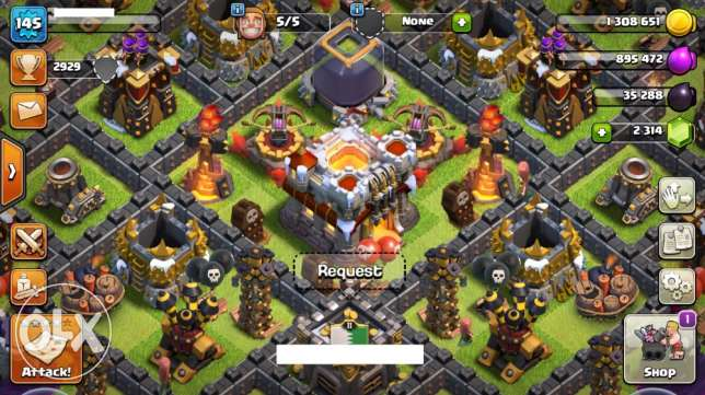 Clash Of Clans lvl 145 for sale