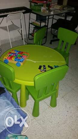 Ikea Kids Table with 4 Chairs
