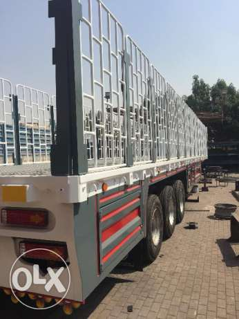 new 3 axle trailer flat bed with jaali and warranty