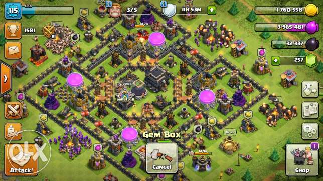 Sell clash of clans town hall 9