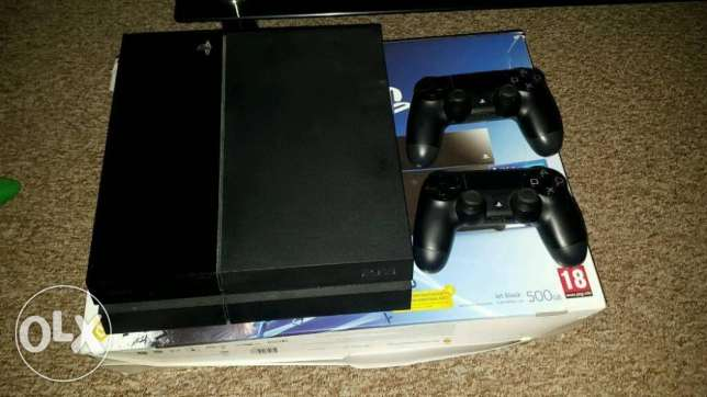 Playstation 4 with a new display