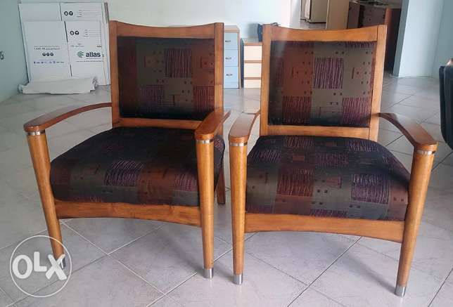 Elegant Wooden Chairs (2 pieces)