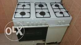 Gass stove with electric oven