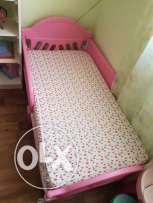 Bed for grls with blanket and mattress. In a very good condition. Size