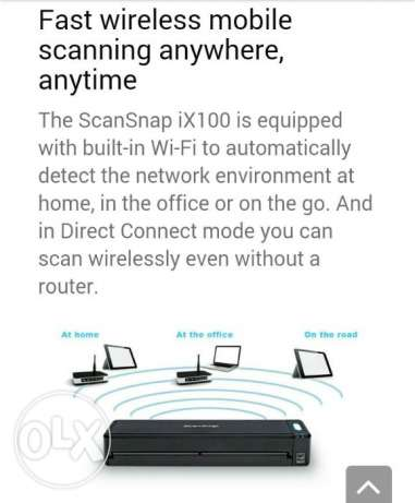 Brand New Fujitsu ScanSnap ix100 wireless mobile scanner