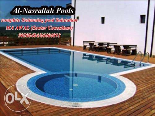 swimming pools construction and maintenance work in kuwait