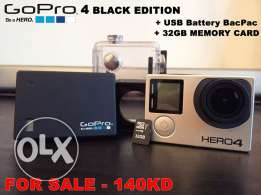 GoPro Hero 4 Black Edition + GoPro USB Battery BacPac