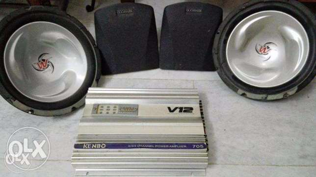 Amplifier with Woofer and Speakers (Used for Sale) in 90KD