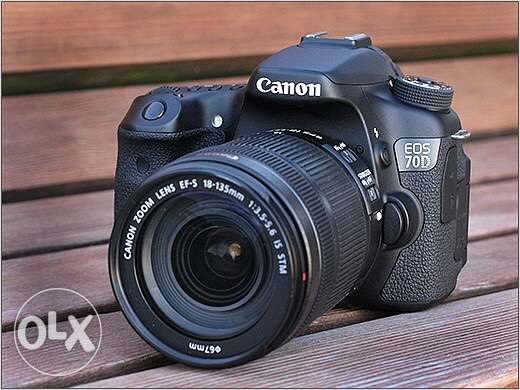 canon 70d + canon lens 18-135 IS STM