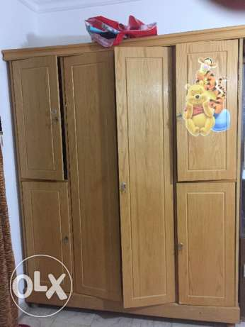 Cupboard with partitions