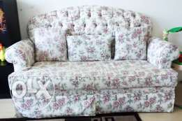 Sofa set for sale with cover
