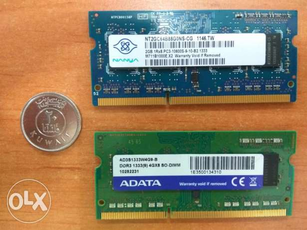 2g DDR3 RAM & 4g DDR3 RAM for laptop
