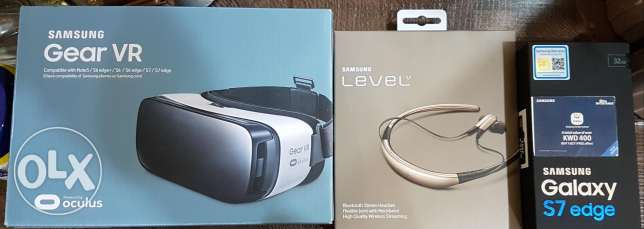 Used Galaxy S7 Edge with brand new Gear VR and Level U