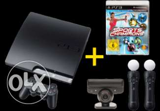 SONY PLAY STATION 3 (PS3) FLAT 360 GB + 1TB Ext HardDisc with 30 Games