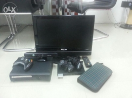 XBox, Kinect, Play Station 2, LCD TV & 25Xbox Games