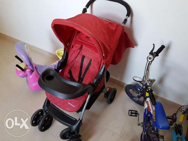 Baby Cary Coat and Baby Stroller