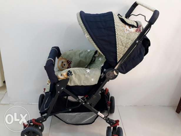 Kids Pram (Foldable) Used By One Child only In Excellent Condition