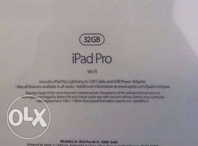 Brand new sealed box ipad pro 12.9inch 32gb wifi gold