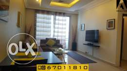 furnished spacious one bedroom apartment in Salmiya - Sea side