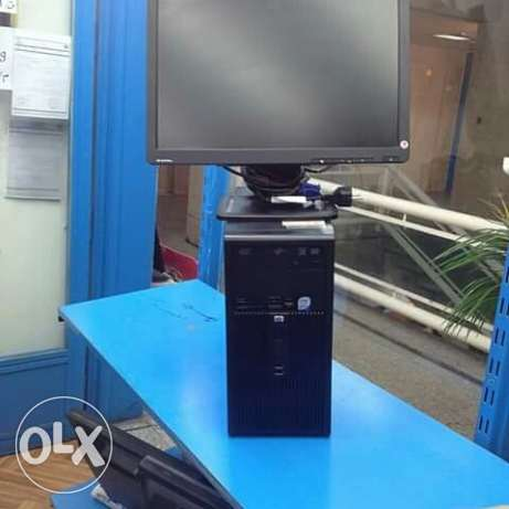 للبيع ديسكتوب hp tower core 2duo (ram4gb&hdd640gb