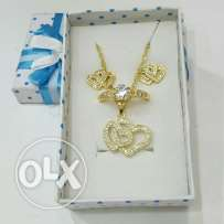 Latest k18 Gold plating jewellery set no fade color made in korea