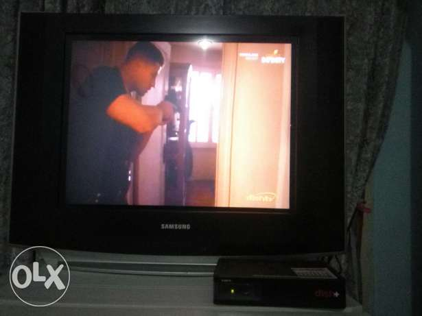 Samsung TV along with Dish+ TV receiver