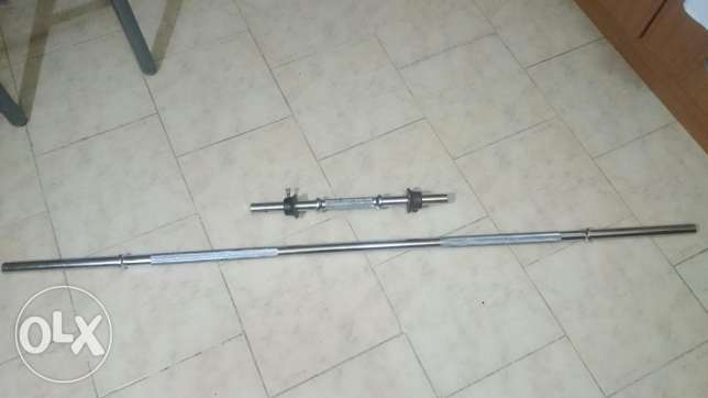 Long bar and dumbell for sale