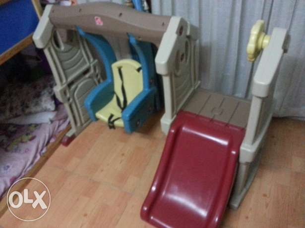 Baby slide and baby girl kitchen set. 100% perfect condition