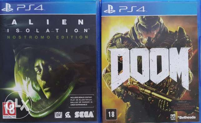 Alien isolation + DOOM PS4