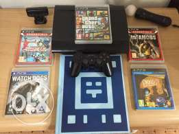 PS3 latest edition with 4 games and ps move -wonder book