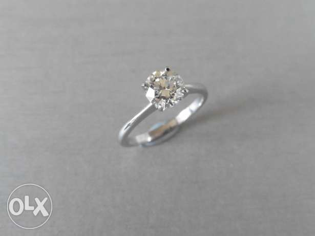 A Solitaire diamond Ring in Platinum
