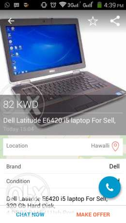 Dell Laptop cori3