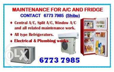 *All type air conditioners (central & split)