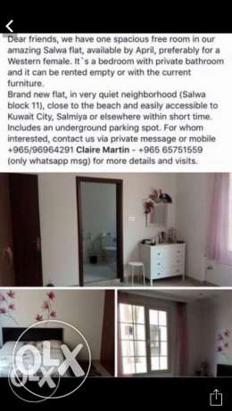 Beautiful flat share available