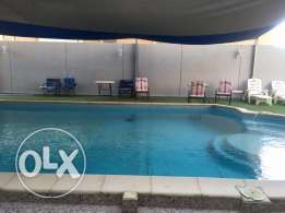 Beach view 2 bedroom fully furnished flat for rent in Mahboula Kd 450
