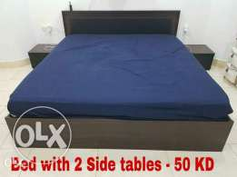 Bed with side tables NEGOTIABLE