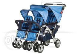 Double double, Quad Four child Stroller Good Condition 65 KD