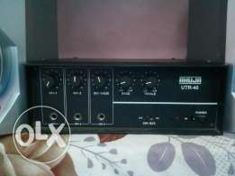 god condition god working philips 2 speaker & ahuja amplifier mobile i