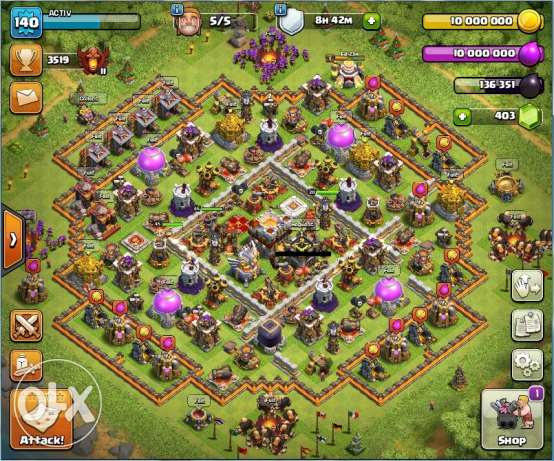 Clash of clans max th11