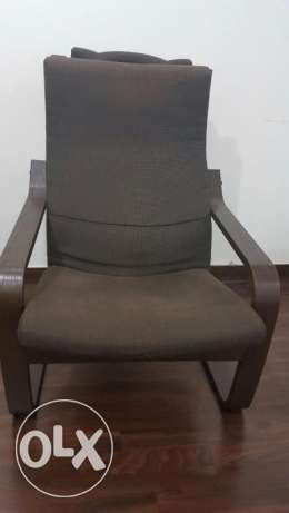 Ikea Armchair, black-brown