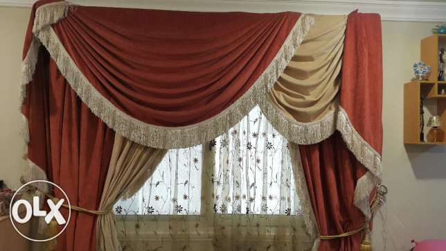 High end curtain and lamps for sale !