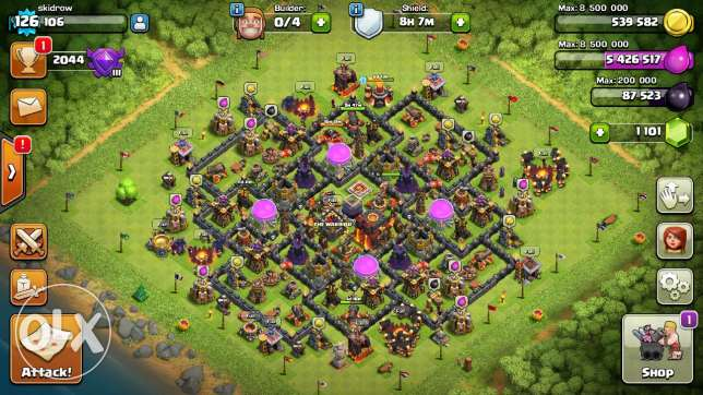 Clash of clan town hall 10 for sale الفروانية -  2