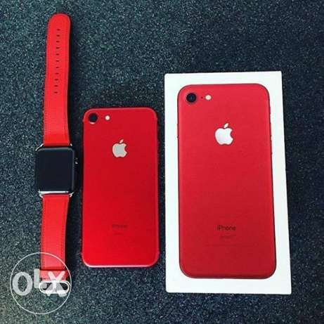 in Red iPhone 7 128GB With iWatch