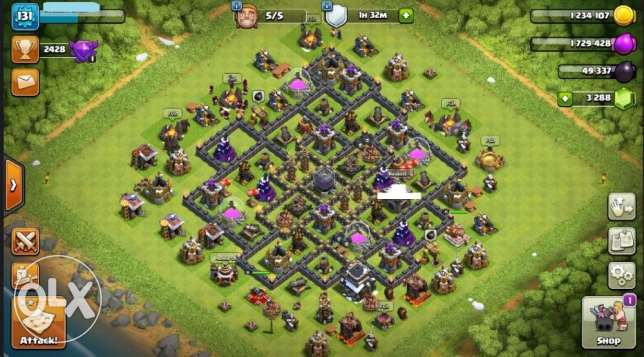 clach of clans TH9 MAX for sale