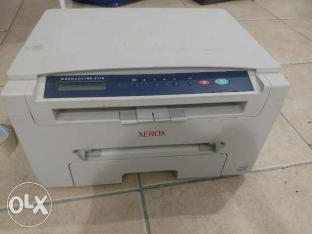 Xerox 3119 laser jet printer and scanner and copier